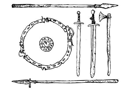 decomposition: Decomposition of medieval weapons Viking Age