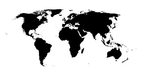 World map vector isolated high quality map of the world black vector world map vector isolated high quality map of the world black world map isolated on white gumiabroncs Images