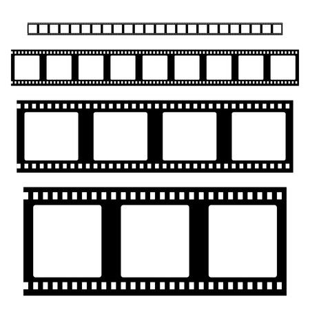 Vector de jeu de bandes de film. Cadres de bande de film vides