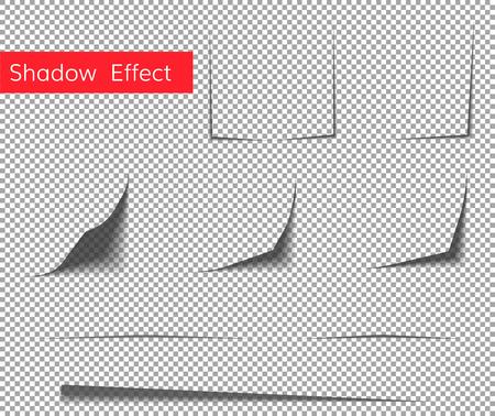 Bello concetto di effetto ombra arricciatura di carta. Effetto ombra foglio di carta.