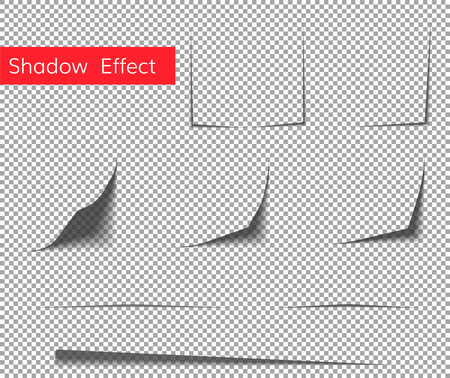Beautiful concept of paper curl shadow effect . Paper sheet shadow effect.