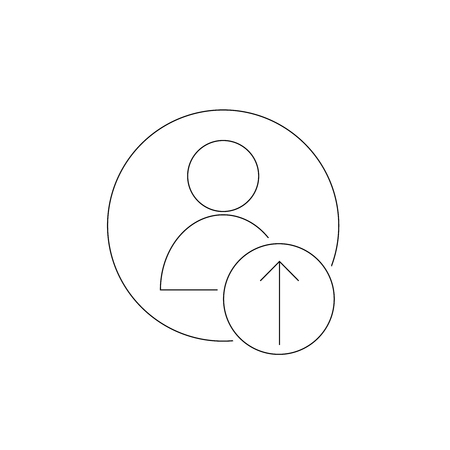 upload photo icon Outline ion in the circle