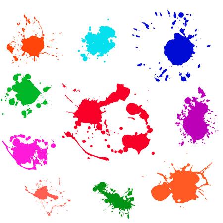 Paint splat set.Paint splashes set for design use