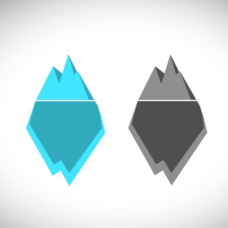 Iceberg illustration icon.