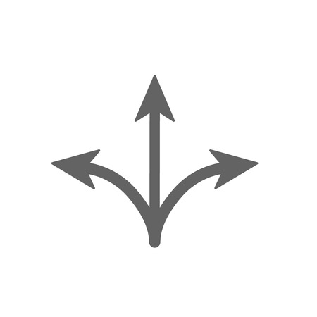 right choice: Arrow separated on three.