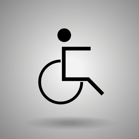 disabled person icon .man on  wheelchair symbol