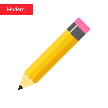 Flat pencil icon Pencil vector illustration office tool