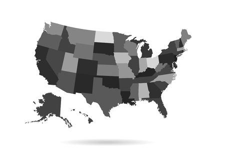 usa states map isolated for infographic blank usa map template
