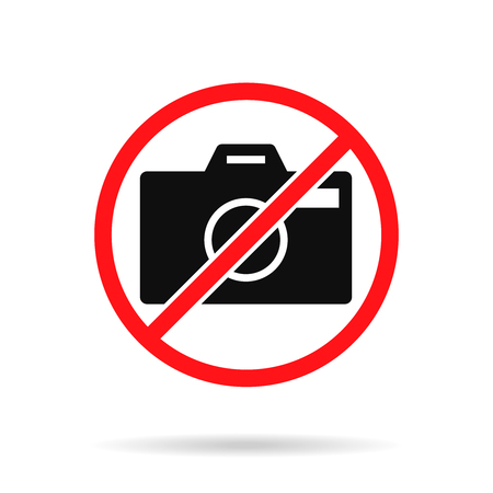 No photo icon dont photography symbol vector
