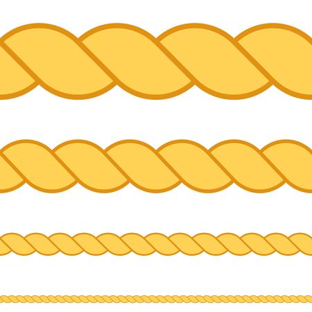 Seamless rope vector macro thread texture rope