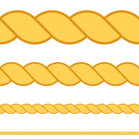 Seamless rope vector macro thread texture rope