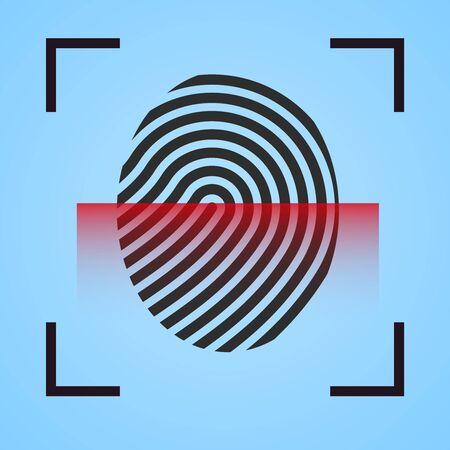 Finger print  scanning  icon fingerprint symbol  scanner