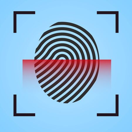 Finger print  scanning  icon fingerprint symbol  scanner