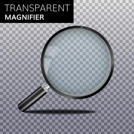 Transparent realistic magnify glass vector magnifier High quality Magnifying lens Banco de Imagens - 79158000