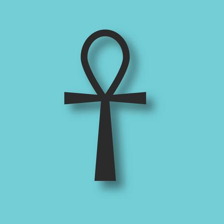 Ankh ancienne Egypte symbole vecteur dieu religion Banque d'images - 81189699
