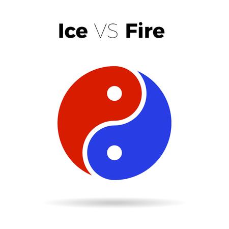 yin y yan: Vector de Yin yang icono vector armonía símbolo