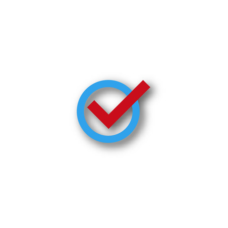 confirm: check mark symbol  vector  flat icon  confirm