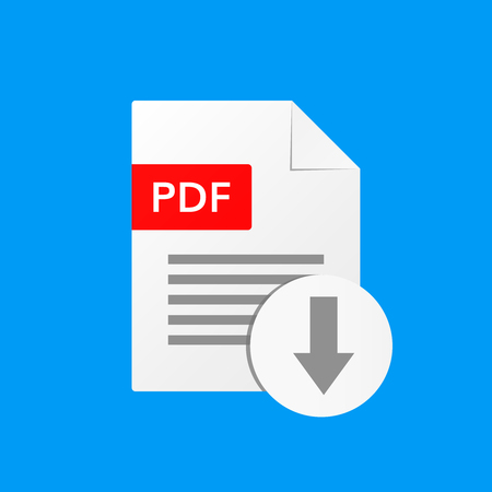 pdf document vector illustration  download pdf  file format  icon