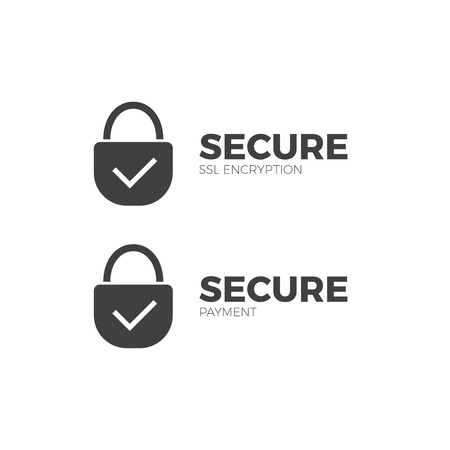 A secure payment icon ssl  encryption transaction  safe pay money. Illustration