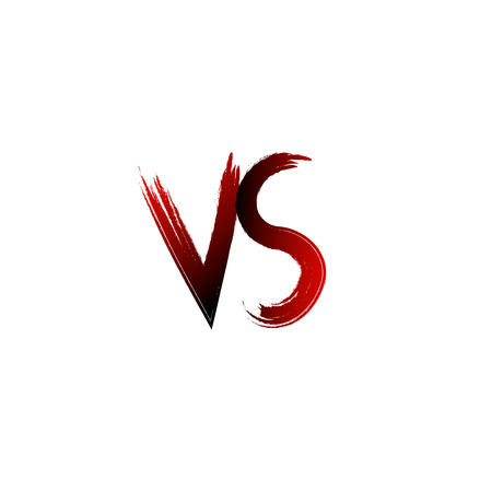 A vs versus letters vector illustration  battle logo emblem.