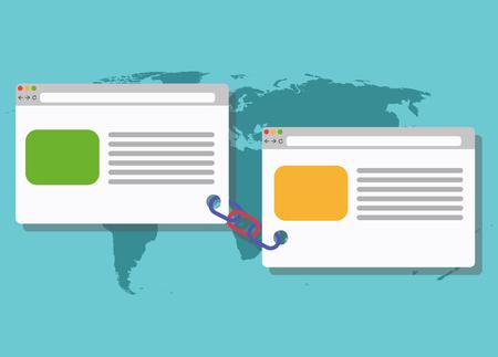 link building blogging illustration connected link seo technology web