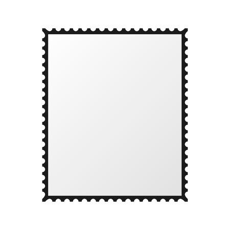 postzegel vector lege mockup vierkante sjabloon na de grens Stock Illustratie