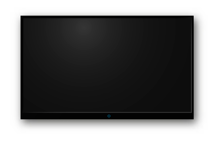 TV modern blank screen lcd Isolated on transparent background