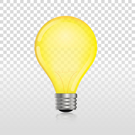 glowing off electric light bulb realistic transparent   lightbulb