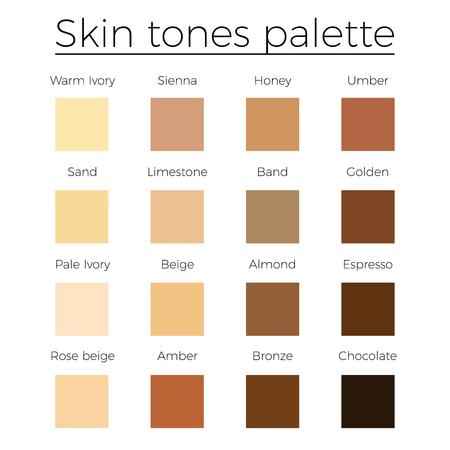 Huidtinten kleur palet vector huid kleur vector grafiek
