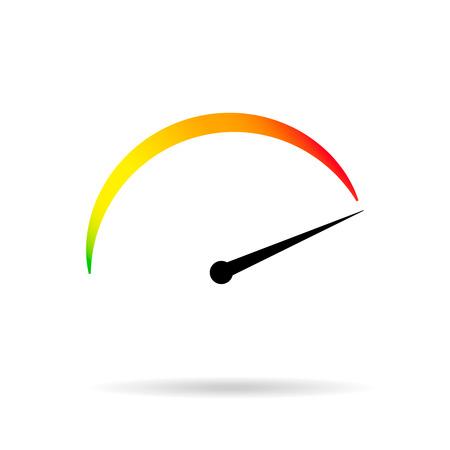 Symbol min max speed meter  speedometer icon