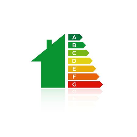 energy  efficiency  house icon   eco chart vector