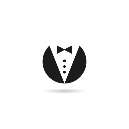 butler gentleman icon  vector business man symbol Stock fotó - 86738113