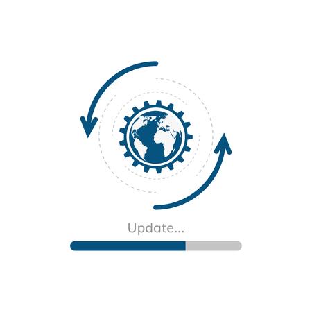 A update progress bar vector upgrade application preloader vector.  イラスト・ベクター素材