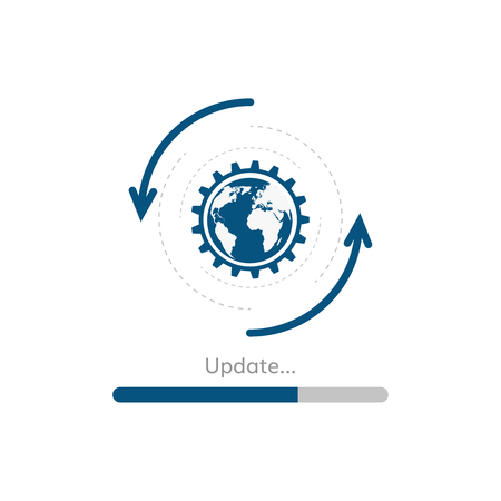 A update progress bar vector upgrade application preloader vector. Çizim