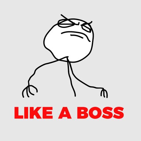 like a boss meme vector internet hero