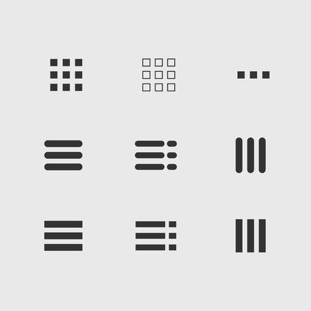 icônes de menu ui ensemble boutons de mobile hamburger Vecteurs