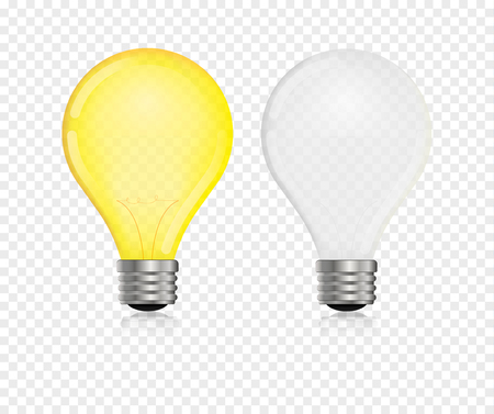 A light bulb vector realistic  bulb light glow  lamp.