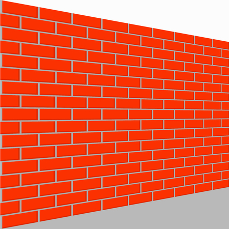 A wall brick vector perspective view fence brick.