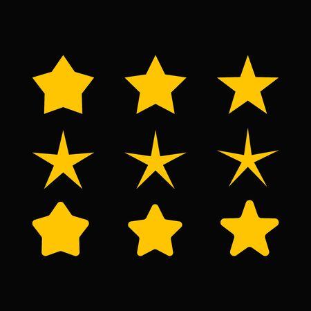 banger: star vector set star sparkle set set