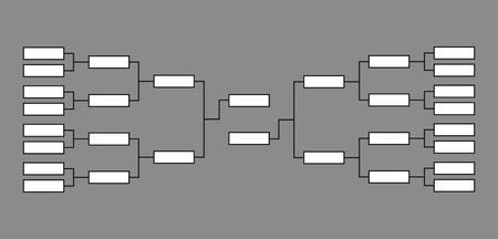 bracket basketball tournament  vector isolated team play net Иллюстрация