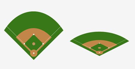 야구 필드 벡터 계획 경기장 기본 템플릿