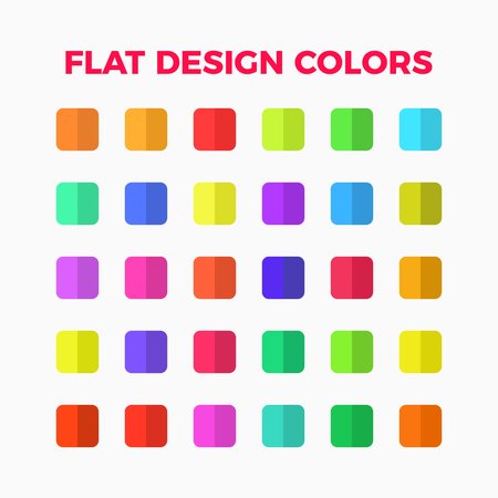 flat design colors palette set  with shadows for illustrations and infographic Illustration