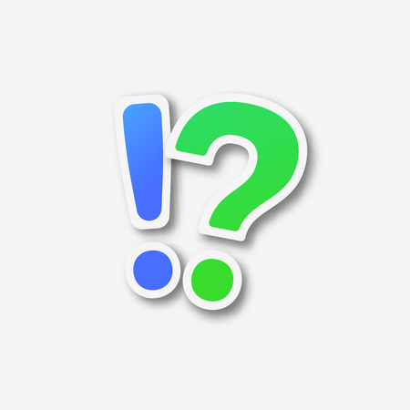 Question mark exclamation point vector illustration  solution symbol Illustration