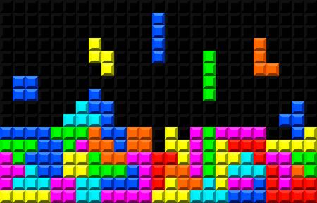 A brick retro game vector template eps 10  イラスト・ベクター素材