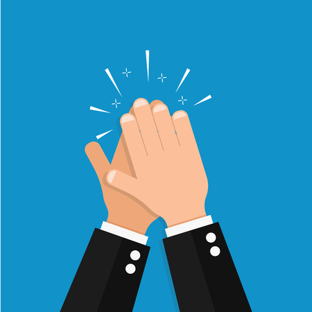 A hand clap vector success illustration acclaim icon
