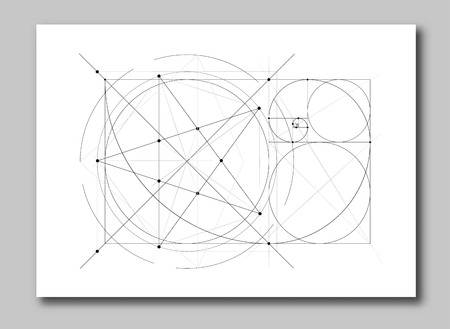Golden ratio section abstract background