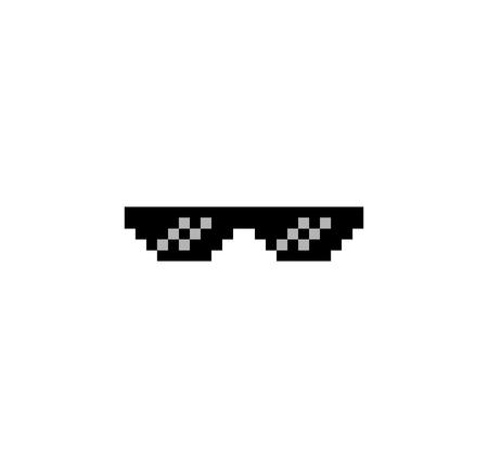 8 bit gangster sunglasses thug life symbol