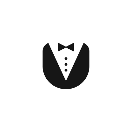 butler uniform icon vector logo person