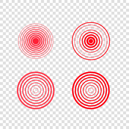 pain target circles vector set  sick  place pointers Illustration