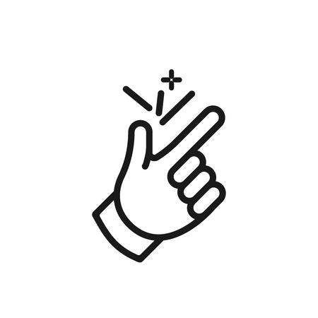 finger snap icon ok symbol snapping logo  イラスト・ベクター素材